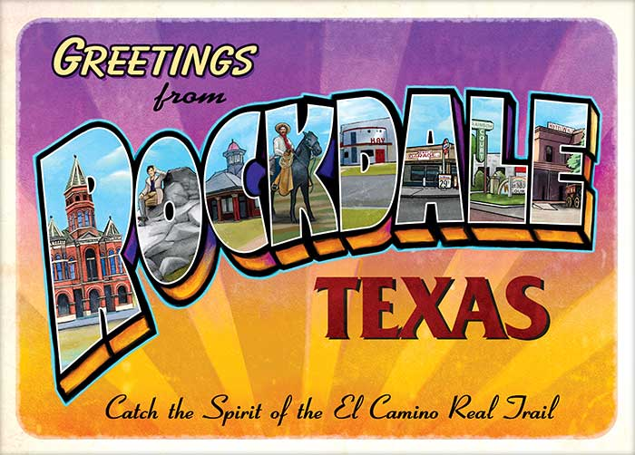 Promotional Tourism Postcard commissioned by the city of Rockdale, Texas © Randy Mott 2019