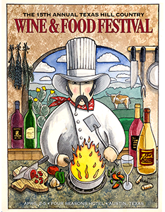 Cowboy Chef - Event Postcard © Randy Mott 1994