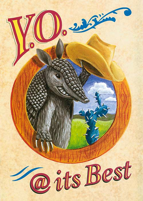 Cover for Y.O. Ranch Party invitation © Randy Mott